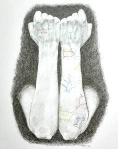 Arms of Sia - The Greatest - fineliner and colored pencils, by Marie-Luise Sehn