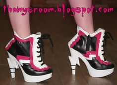 Fear Squad Boots by ~V&rincessThamy on deviantART - Monster High & Monster High Cosplay:Draculaurau0027s sweet 1600 Shoes by CassowaryMarie ...