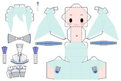Chibi Snow Miku Papercraft by ~NintenNerd on deviantART