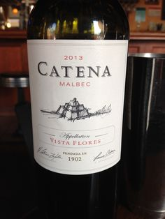 2013 Catena Vista Flores Malbec - Violet purple in color. Ripe fruit, purple, dark fruits, some earthy notes. Soft and supple on the palate with wonderful fruitiness. Good tannins that will feature well with food. Very nice.