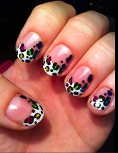 Leopard French Tip