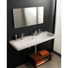 """Ceramica Tecla by Nameeks CAN05011  $875  drop in or wall-mounted sink  47 1/4 """" with 0/1/or 3 holes drilled on build.com"""