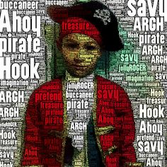 Pirate- cool idea to do with any photo of your little one in any costume.