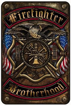 Beautiful Aluminum Firefighter Brotherhood Sign! - FREE Shipping! - Show Off Your Pride with this on your wall! - 8 inches x 12 inches Want a matching shirt? Go Here! Note: There are no returns on sig