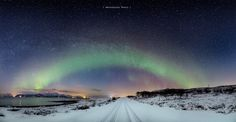 The road into the stars - From Northern Norway. Stitched together from 6…