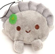 grey dumpling plush cellphone charm #kawaii