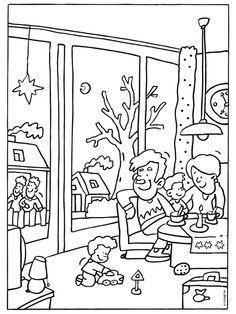 kleurplaat oma leest voor categorie lezen titel vader