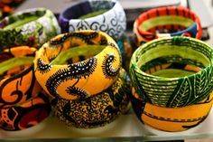 Ankara Hand Cuffs w/ African print fabric