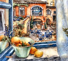 Courtyard Cafe by Kim Jacobs