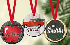 Personalized Ornament Gift Tag Personalized Tree Ornaments