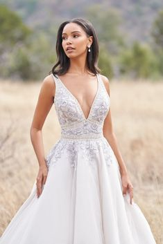 A satin sheen illuminates this elegantly beaded gown. Try this wedding gown on today at The Gown Gallery! Bridal Wedding Dresses, Bridal Style, Bridesmaid Dresses, Gorgeous Wedding Dress, Dream Wedding, Double Wedding, Wedding Things, Wedding Stuff, Bridal Photoshoot