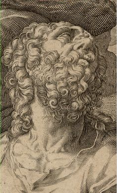 Apostle Bartholomew, 1589 (Detail) #dibujo #grabado #arte