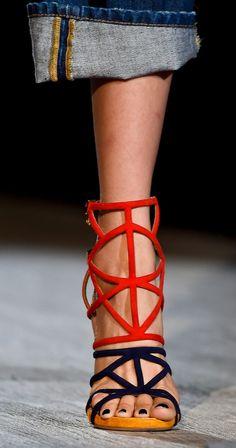 Heeled Gladiator Sandals: 'Antigone Sandals' by Dsquared² at Milan Fashion Week.