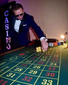 """""""Mr 007 himself, @danielcraiglookalike Max Ryder, tries his luck at one of our casino tables @thecelticmanor #roulette #casino #007 #danielcraig #bond #bondnight #casinoparty #blackjack #poker #vegasnight #celticmanor #wales #party #casinochip #pokerchips #happy #eventplanner #eventprofs #licensedtokill"""" by @eventscasino (eventscasino). • • What do you think about this one? @martinsemple @mashbooths @mashmachines @mashstaffing,@mattyee69 @mcarb_afr @mcec @mcecheckin,@mceventoschis…"""