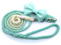 Pet Wedding Attendant Set – Bow Tie Dog Collar and Rope Leash