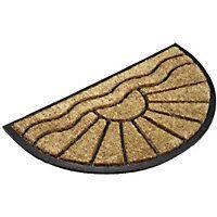 Find Half Moon Coir Mat - at Homebase.  sc 1 st  Pinterest & Homebase Stencilled PVC Coir | Rugs | Pinterest | Coir Doormat and ...