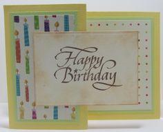 Z fold birthday card