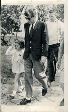 President Kennedy with daughter Caroline.