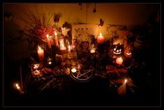 Samhain Altar 2010 by Wilhelmine on DeviantArt Wiccan Witch, Pagan, Spiritual Healer, Spirituality, Samhain Ritual, Halloween History, Celtic Festival, Samhain Halloween, Winter Magic