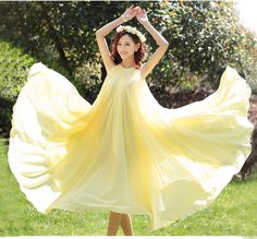 Yellow long dress 6.25 new arrivals