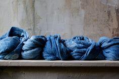 indigo organic cotton hemp jersey handmade hand-dyed
