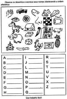atividades de alfabetização para imprimir de escrever