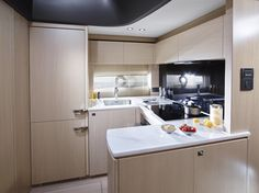 What's cooking? The well equipped galley of the Princess sports yacht Princess Yachts, Sport Yacht, Luxury Yachts, What To Cook, Plymouth, Outdoor Living, What's Cooking, Lifestyle, Boating