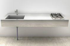 W1800×D600サイズ | ミニマルキッチン | R不動産 toolbox