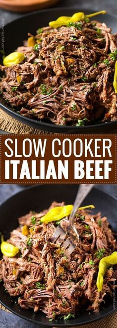 Slow Cooker Shredded Italian Beef!!! - Low Recipe