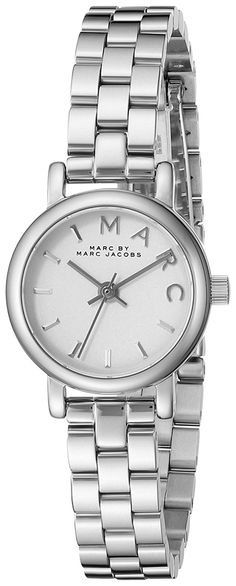 Marc by Marc Jacobs Women's MBM3430 Baker Analog Display Analog Quartz Silver-Tone Watch *** Be sure to check out this awesome product.