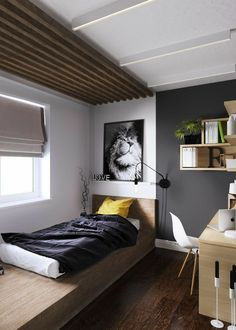 New bedroom attic design guest rooms Ideas Wood Bedroom, Bedroom Loft, Bedroom Decor, Bedroom Ideas, Master Bedroom, Apartment Interior, Apartment Design, Single Bedroom, Trendy Bedroom