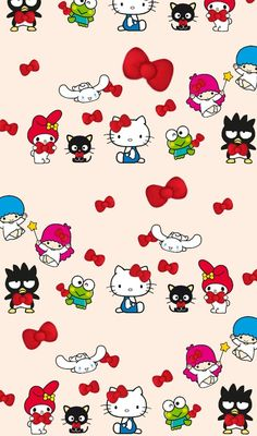 รูปภาพ cartoon, hello kitty, and illustration
