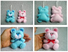 Bear ornament felt cute animals handmade gift home decor happy love little bear pink handmade embroidery craft Felt is a very soft, pleasing and environmentally friendly material. Felt ornament look great in any room.  This ornament will serve you for a long time, you can take it away and hang again! It will be a perfect gift or decoration:)  Decoration is made from felt and embroidered with embroidery. Every detail is hand cut by me. Measure approx. 12 cm x 9 cm (4.8 x 3.6) not including a…