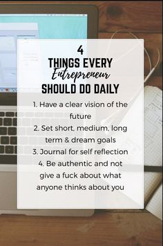 4 Things for every e...