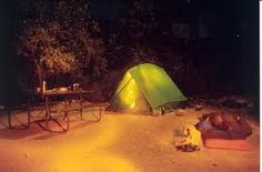camping at the bottom of the grand canyon