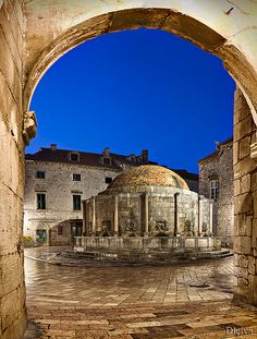 Onofrio's Fountain, Dubrovnik, Croatia.  I've been here!  Beautiful place.  Can't wait to go back.