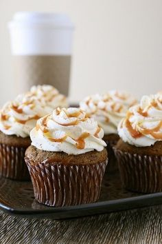 These look amazing. Pumpkin Spice Latte Cupcakes | Well