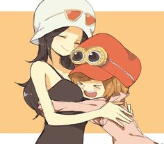 Robin and Koala One Piece Manga, One Piece Fanart, Koala One Piece, Ace Sabo Luffy, Gamers Anime, One Piece Ship, Nico Robin, Kawaii, One Punch