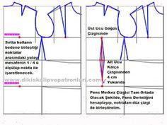 Dikiş Kalıpları ve Patronları: TEMEL BEDEN ELBİSE KALIBI ÇİZİMİ ANLATIMI Pattern Drawing, Sewing Projects, Sewing Patterns, Embroidery, Handmade, Stitching, Patterns, Dressmaking, Costura