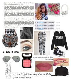 """""""Untitled #106"""" by karlynboo ❤ liked on Polyvore featuring Victoria's Secret PINK, Converse, She's So, NYX, Ray-Ban and Flexfit"""