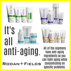It's all anti-aging   skincare   redefine   soothe   reverse   unblemish   number one skincare   best skincare   consultant   R+F   Rodan and Fields   www.thisisjaky.com #antiagingproducts