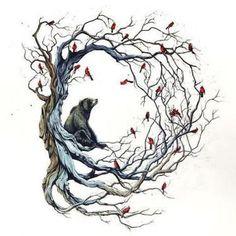 Bear on The Tree Tattoo Design