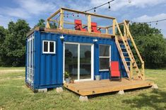 20 Rustic Retreat Shipping Container - Tiny House for Sale in Houston, Texas - Tiny House Listings Container Home Designs, Tiny Container House, Building A Container Home, Building A Tiny House, Building A Shed, Cargo Container, Building Plans, Cheap Shipping Containers, Converted Shipping Containers