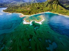 Tunnels Beach, Kauai, Hawaii Great place to snorkel if you can find a place to park.