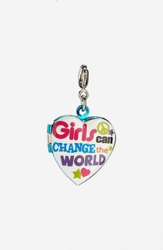 CHARM IT!® 'Girls Can Change The World' Charm (Girls) available at #Nordstrom