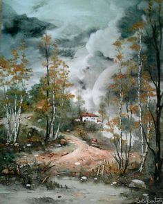 Landscape  Oilpaintingoncanvas  Painter.Selim Güventürk (Sold)