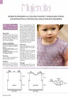 Baby Knitting Free, Knitting For Kids, Baby Knitting Patterns, Baby Patterns, Crochet Patterns, Summer Jacket, Jacket Pattern, Mtv, Knit Crochet