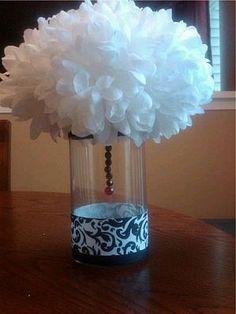 Decoración+de+Bodas,+Centros+de+Mesa+y+Arreglos+Florales+en+Blanco+y+Negro