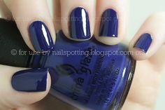 China Glaze- Bermuda Breakaway - Another beautiful color. I love royal blue and cobalt on clothes/nails.