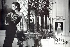 Estee Lauder Perfume House History Perfume - The Perfume Girl. Fragrances and colognes from fashion houses and perfume designers. Scent resources, perfume database, and campaign ad photos. Estee Lauder Perfume, Perfume Ad, Vintage Perfume, Aerin Lauder, Estee Lauder White Linen, Eighties Style, Bruce Boxleitner, Cocktail Outfit, Classy Chic